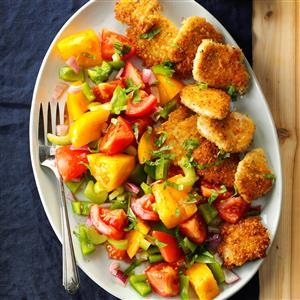 Turkey Medallions with Tomato Salad Recipe