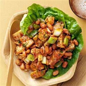 Turkey Pinto Bean Salad with Southern Molasses Dressing Recipe
