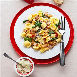 Turkey Sausage & Spinach Orecchiette Recipe