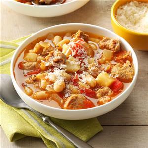 Turkey Sausage Bean Soup Recipe