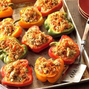 Turkey-Stuffed Bell Peppers Recipe