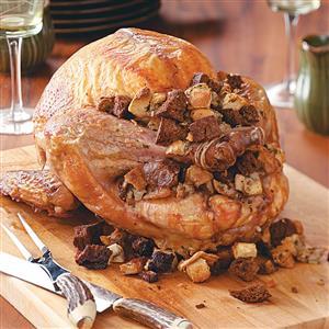 Turkey With Rye Dressing Recipe