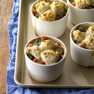 Turkey and Mushroom Potpies Recipe