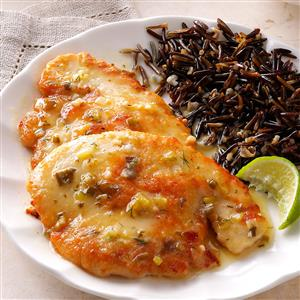 Turkey with Lime Butter Sauce Recipe
