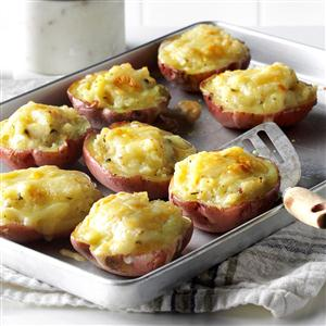 Twice-Baked Red Potatoes Recipe