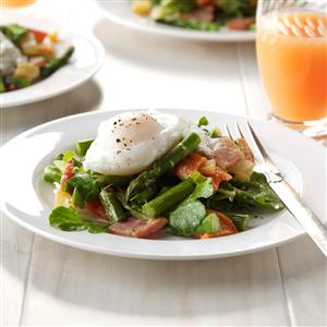 Twisted Eggs Benedict Salad Recipe