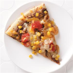 Two-Bean Veggie Pizza Recipe