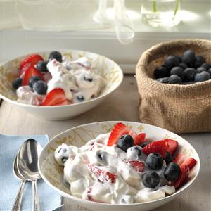 Two-Berry Fluff Salad Recipe