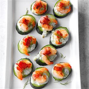 Tzatziki Shrimp Cucumber Rounds Recipe