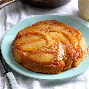 Upside-Down Apple Cake with Butterscotch Topping Recipe