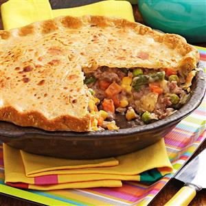 Vegetable Beef Pie Recipe