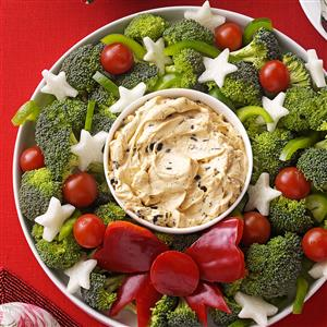 Vegetable Wreath with Dip Recipe
