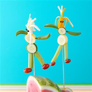 Veggie Cheese People for Two Recipe