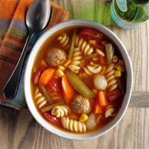Veggie Meatball Soup Recipe
