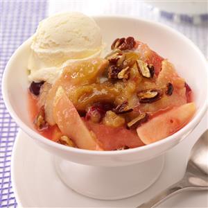 Warm Apple-Cranberry Dessert Recipe