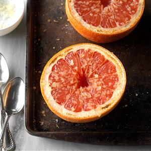 Warm Grapefruit with Ginger-Sugar Recipe