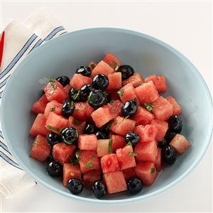 Watermelon-Blueberry Salad Recipe