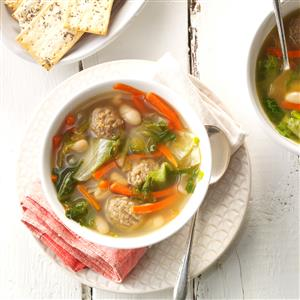 White Bean Soup with Meatballs Recipe