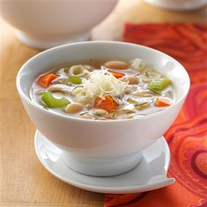 White Bean Soup with Rosemary & Parmesan Recipe