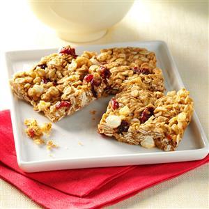 White Chip Cranberry Granola Bars Recipe