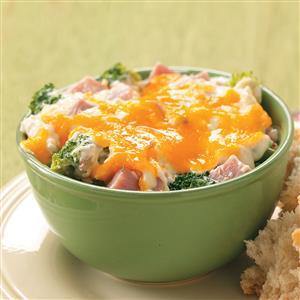 Wild Rice and Ham Casserole Recipe