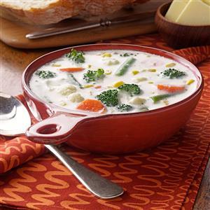 Winning Cream of Vegetable Soup Recipe