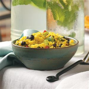 Yellow Rice & Black Bean Salad Recipe