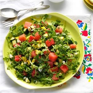 Yellow Squash & Watermelon Salad Recipe
