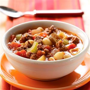 Zesty Hamburger Vegetable Soup Recipe
