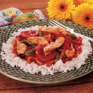 Chicken Cacciatore Over Rice Recipe