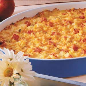Ham N Cheese Potato Bake Recipe