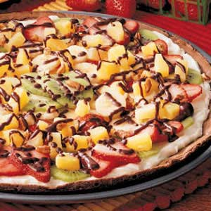 Fruity Brownie Pizza
