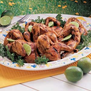 Marinated Grilled Game Hens Recipe