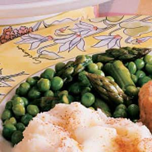 Pleasing Peas and Asparagus Recipe