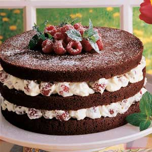 Chocolate Torte with Raspberry Filling