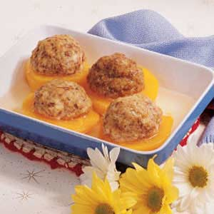 Sausage-Stuffed Peaches Recipe