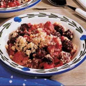 Rhubarb Elderberry Crisp Recipe