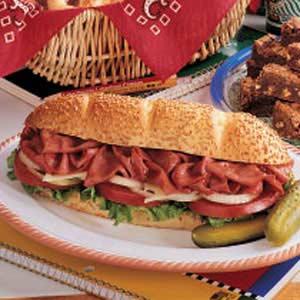 Hot Ham Hoagies Recipe