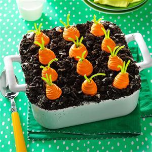 Carrot Garden Ice Cream Dessert Recipe