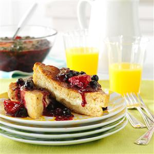 Mascarpone-Stuffed French Toast with Berry Topping Recipe