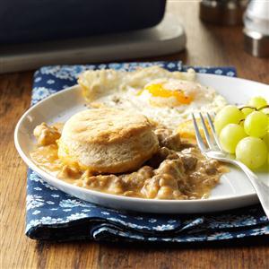 Make-Ahead Biscuits & Gravy Bake Recipe