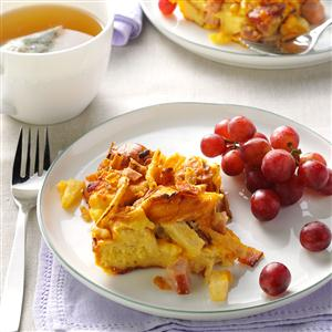 Hawaiian Bacon & Pineapple Breakfast Bake Recipe