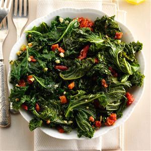 Warm Tasty Greens with Garlic Recipe
