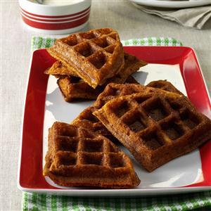 Gingerbread Belgian Waffles Recipe