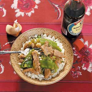 Pork 'n' Pea Stir-Fry Recipe