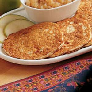 Applesauce Oatmeal Pancakes Recipe