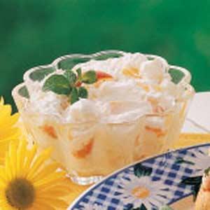 Peach Chiffon Cups Recipe
