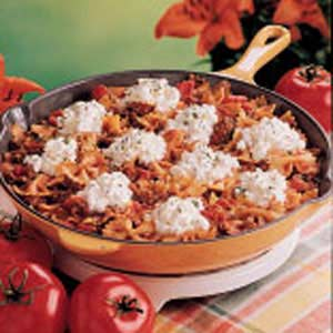 Skillet Bow Tie Lasagna Recipe