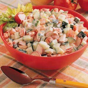 Creamy Summer Vegetable Salad Recipe