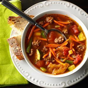 Garden Vegetable Beef Soup Recipe
